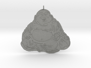 Laughing Buddha pendant in Gray Professional Plastic