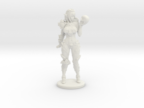 Dark Queen Mini - 40mm in White Natural Versatile Plastic