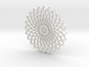 Dreamcatcher Coaster in White Natural Versatile Plastic