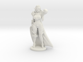 Dark Queen w Cape Mini - 40mm in White Natural Versatile Plastic