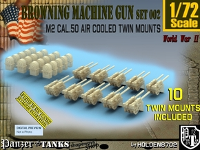1/72 M2 Air Cooled Twin M2 MG Mount Set002 in Smooth Fine Detail Plastic