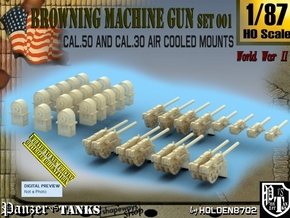 1/87 M2 Air Cooled M2 MG Mount Set001 in Smooth Fine Detail Plastic