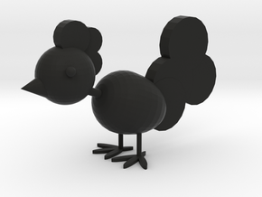 Happy chicken in Black Premium Versatile Plastic