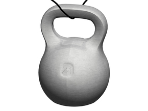 Kettlebell Pendant  in Black Strong & Flexible