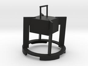燈罩.stl in Black Premium Versatile Plastic