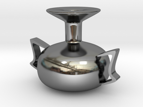 Falling kettle in Fine Detail Polished Silver