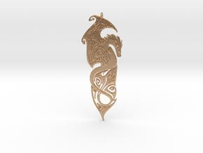 Dragon pendant in Natural Bronze