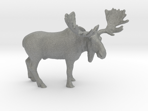 O Scale Moose in Gray Professional Plastic