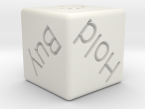 Investor's Dice in White Natural Versatile Plastic