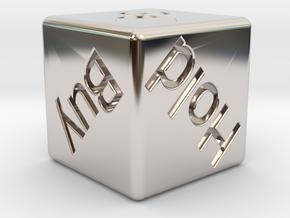 Investor's Dice in Platinum