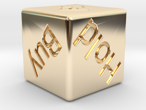 Investor's Dice in 14K Yellow Gold