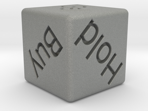 Investor's Dice in Gray Professional Plastic