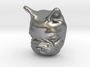 French Bulldog Lapel Pin in Natural Silver