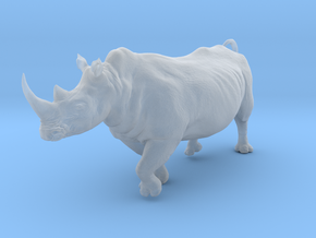 White Rhinoceros 1:25 Running Male in Smooth Fine Detail Plastic