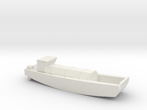 1/285 Scale British LCVP in White Natural Versatile Plastic