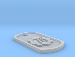 Fallout 76 Themed Dog Tag in Smooth Fine Detail Plastic