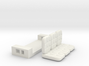 sofaset in Yellow Processed Versatile Plastic