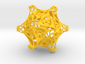 Icosahedron modified organic  in Yellow Processed Versatile Plastic