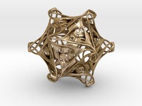 Icosahedron modified organic  in Polished Gold Steel