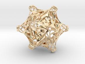 Icosahedron modified organic  in 14K Yellow Gold