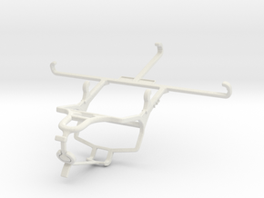 Controller mount for PS4 & Samsung Galaxy A8 Star  in White Natural Versatile Plastic