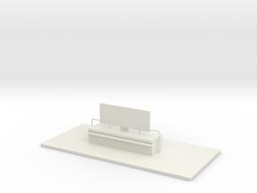 Tower 107 Interior (HO 1:87) in White Natural Versatile Plastic