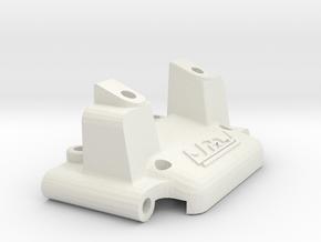losi jrx2 front bulkhead with lip in White Natural Versatile Plastic