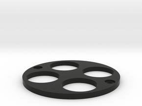 RC Shock Pump 1/8 Plate in Black Natural Versatile Plastic