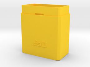 50mm Extension for MP5 PEQ Battery Box in Yellow Processed Versatile Plastic