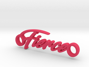 Fierce Pendant in Pink Processed Versatile Plastic