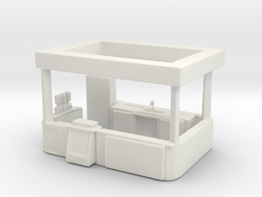 HO Scale Food Stand(2) in White Natural Versatile Plastic