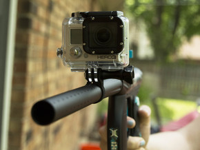 Go PRO Paintball Barrel Mount in Black Natural Versatile Plastic: Small