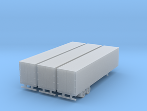 45 ft semi trailer 3 pack in Smooth Fine Detail Plastic