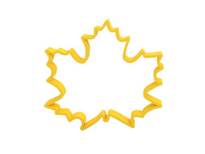Cookie cutter in Yellow Processed Versatile Plastic