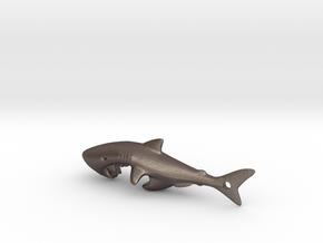 Shark Bottle Opener in Polished Bronzed Silver Steel