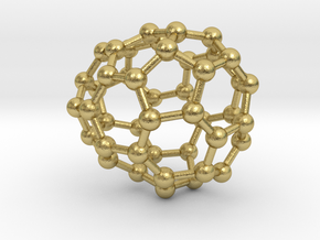 0670 Fullerene c44-42 c1 in Natural Brass