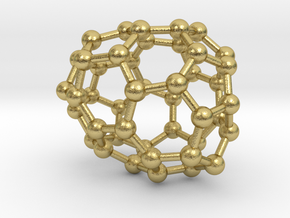 0671 Fullerene c44-43 c1 in Natural Brass