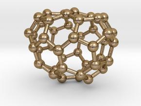0674 Fullerene c44-45 c1 in Polished Gold Steel