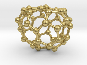 0674 Fullerene c44-45 c1 in Natural Brass