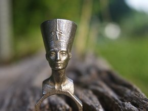 Nefertiti ring in Polished Bronzed-Silver Steel