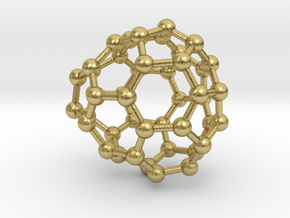 0679 Fullerene c44-51 c1 in Natural Brass