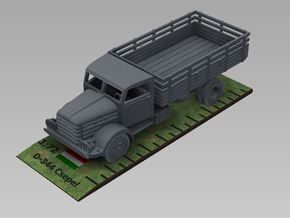 1/72nd scale Csepel D-344 truck in Smooth Fine Detail Plastic