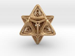 Sacred Merkaba nested in Natural Bronze