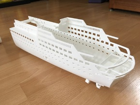 MS Arkona, Hull - Rear End (1:200, RC) in White Natural Versatile Plastic