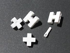 Puzzle Die in White Natural Versatile Plastic