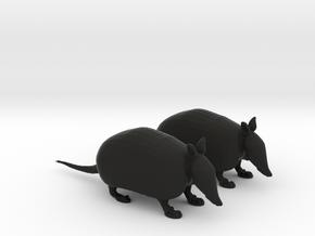 Armadillos in Black Natural Versatile Plastic: 1:22.5