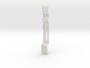 000148 Forst und Baumaschinentransporter HO 1:87 in White Natural Versatile Plastic: 1:87 - HO