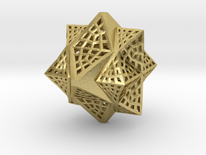 Tetra Cube octa Family Compound in Natural Brass