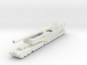 12 inch gun mk 9 railway artillery  1/144 in White Natural Versatile Plastic