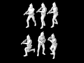 (Legion) 6x Clone Trooper Phase 1 in Smooth Fine Detail Plastic